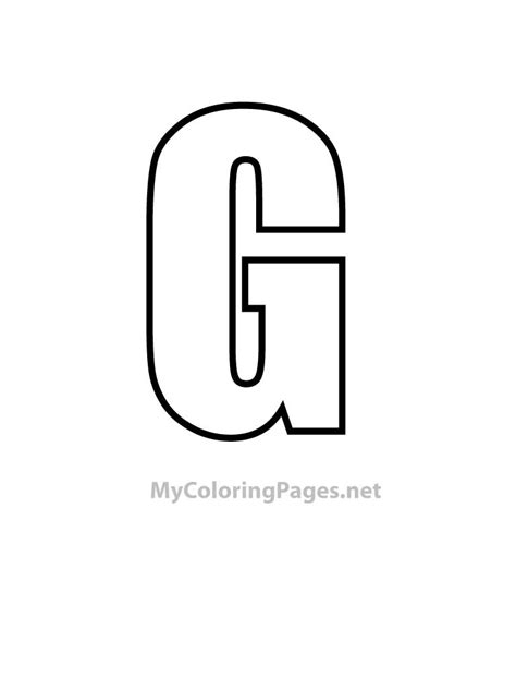 Letter Book Free free letter g activities coloring pages