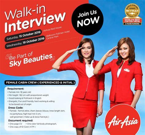 citilink flight attendant recruitment 2017 jakarta airasia cabin crew recruitment october 2016