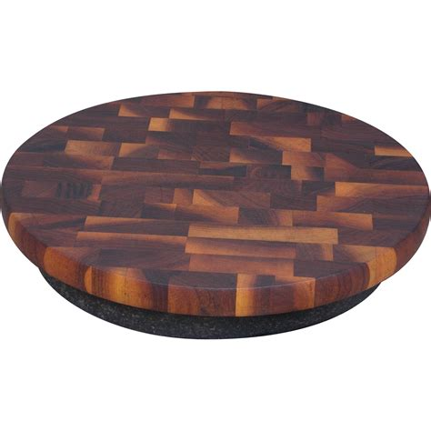 lazy susan vintage chop block wood lazy susan sold on ruby lane
