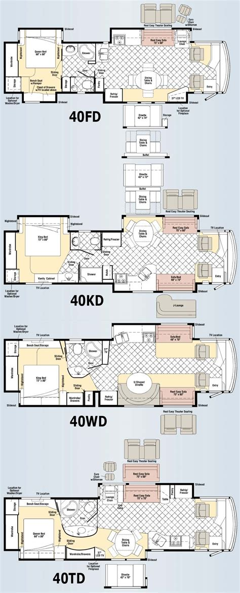 class a floor plans winnebago tour class a motorhome floorplans large picture