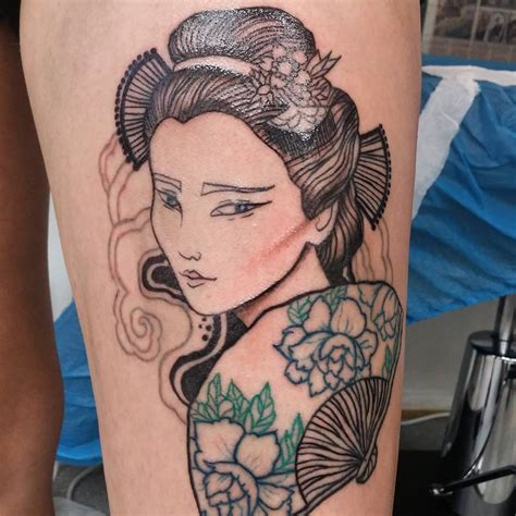 geisha tattoo designs 70 colorful japanese geisha tattoos meanings and