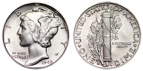 1945 s mercury dimes winged liberty silver dime value and