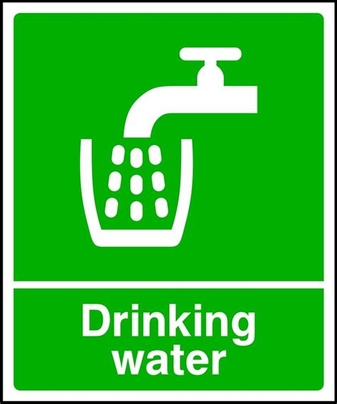 drinking water sign sk signs labels first aid signs