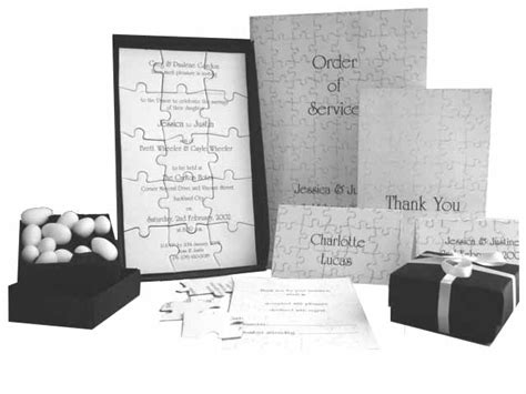 Wedding Invitation Jigsaw Puzzle by Jigsaw Wedding Invitation Hayfords Wedding Stationery