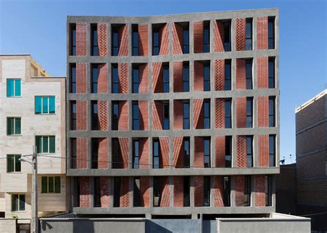 moma screening room angled screens of perforated brick provide ventilation and shade for this housing block in