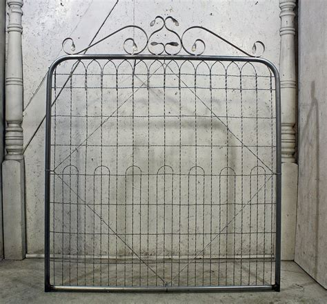 double loop top woven wire fence gate