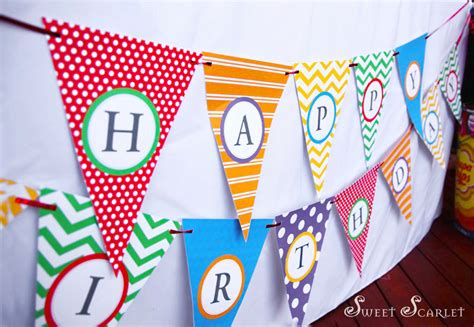 printable letters on bunting rainbow party bunting or banner plus mini banner diy