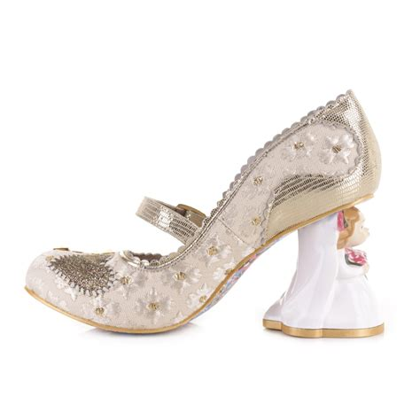 irregular choice shoes womens irregular choice i you office white wedding