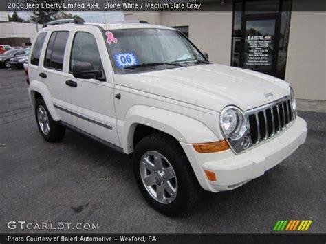 2006 Jeep Liberty Limited White 2006 Jeep Liberty Limited 4x4 Medium Slate