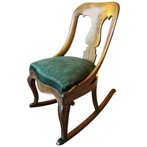 Armchair Rocking Chair by Antique Rocking Chair Mahogany 19th Century