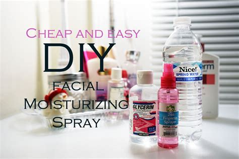 diy setting spray for skin without glycerin diy cheap easy moisturizing spray helps flaky skin