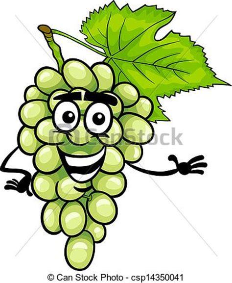 imagenes graciosas uvas divertido ilustraci 243 n fruta uvas blanco caricatura