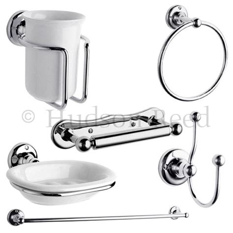 Traditional Bathroom Accessories Hudson Reed 6 Traditional Bathroom Set Chrome At