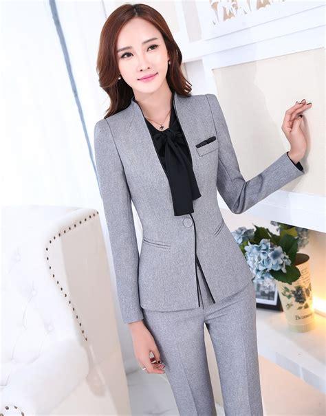 design work jacket formal uniform design novelty grey professional business
