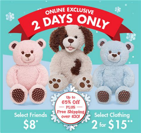Build A Bear Gift Card Promo Code - build a bear get 2 friends 2 outfits a 10 gift card for 36 shipped mamas on a