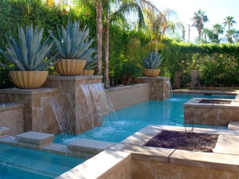 pools for small spaces waterfalls for pools inground for geometric pool for small