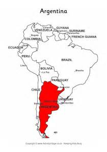 argentina on map of south america