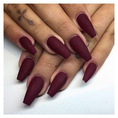 burgundy nail color matte burgundy nails kortenstein liked on polyvore