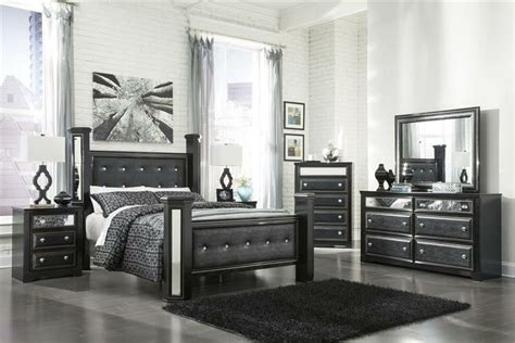 black poster bedroom set king master bedroom sets black faux leather