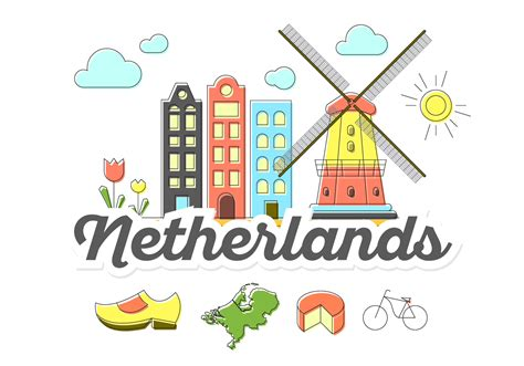 netherlands map icon netherlands icons free vector stock