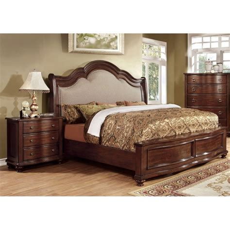 american nightstand and l set furniture of america marcella 2 piece king panel bedroom