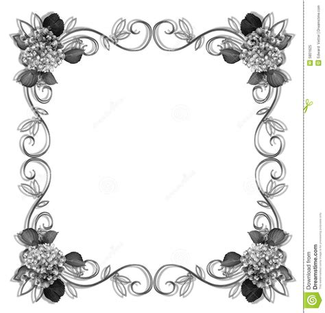 patterns black and white border 7 best images of printable flower border black and white