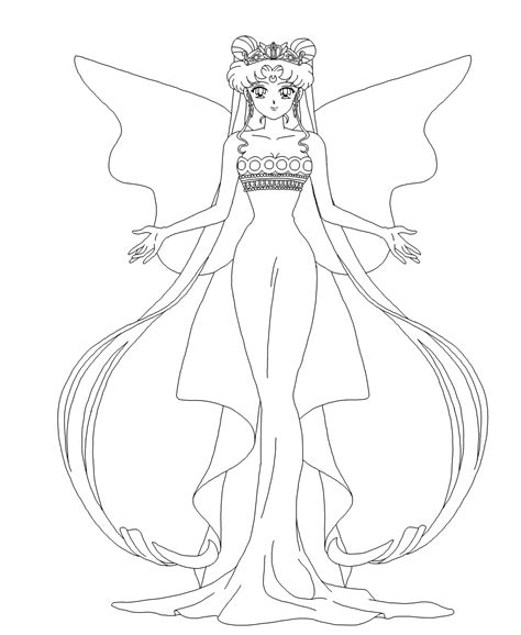 princess serenity coloring pages neo serenity lineart by nads6969 on deviantart