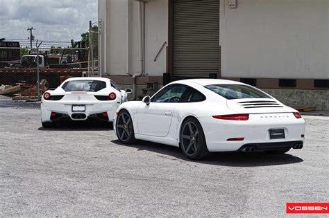 porsche white 911 white 2012 porsche 911 on vossen wheels