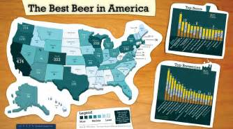 United States Beer Map by Best Beer In America 2008 Map United States Mappery