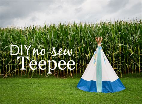 How To Make A Paper Teepee - diy no sew teepee project nursery