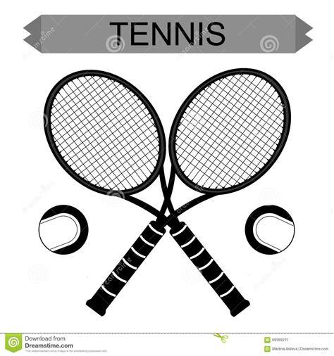 Promo Raket Tenis Silhouetee big tennis rackets with tennis vector cartoondealer 68369231