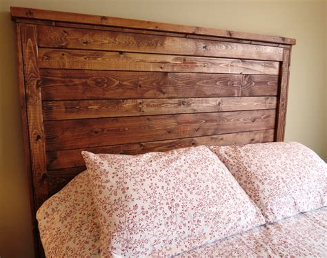 diy rustic wood headboard modern house design how do
