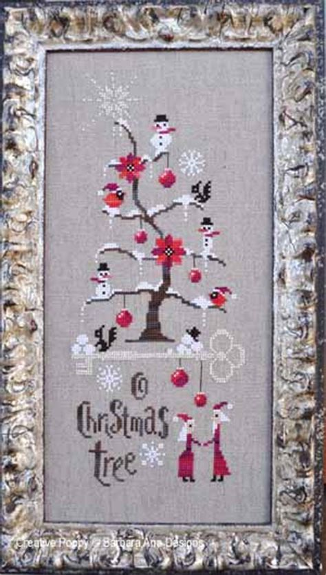 barbara ana  christmas tree cross stitch pattern