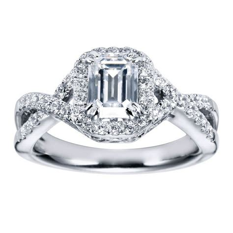halo ring emerald cut halo ring