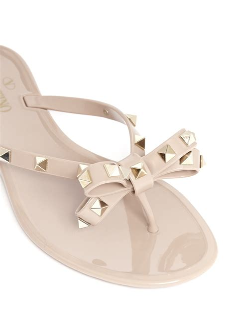 Sandal Jelly Zurarah Sandal Slop Flat Jelly Shoes Sepatu Sandal valentino rockstud bow flat jelly sandals in lyst