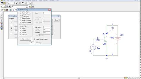 bjt transistor in pspice grafico curva carater 237 stica transistor pspice icq vce
