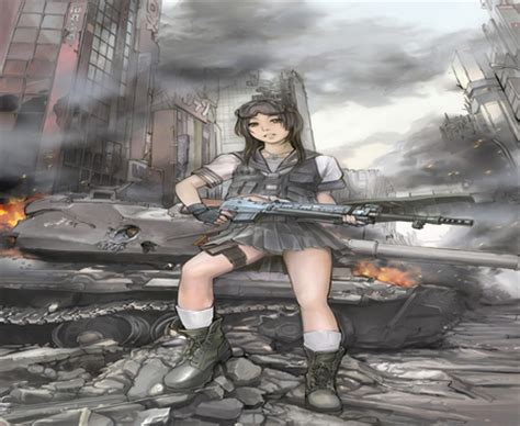anime soldier girl wallpaper soldier girl other anime background wallpapers on