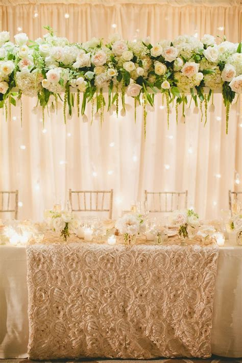 Bridal Table Backdrop   Wedding Flair