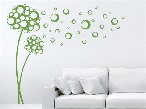 Blumen An Wand Malen 5202 by Wandtattoo Retro Blumen Mit Kreisen Wandtattoo De