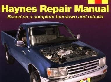 best car repair manuals 1993 toyota t100 engine control toyota tacoma 4 runner t100 automotive repair manual models covered 2wd and 4wd toyota