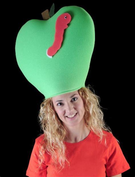 sombrero de frutas de foamy gorro gomaespuma manzana con gusanito frutas pinterest