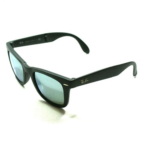 Kacamata Sunglass Folding Matte Black ban matte wayfarer black