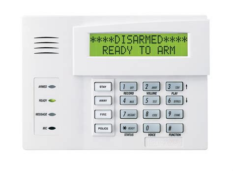 honeywell 6160v talking alphanumeric alarm keypad