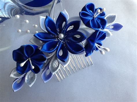 Royal Blue Hair Accessories For Weddings by Hair Comb Royal Blue Cobalt Blue Silver And By Lihinicreations