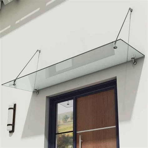 glass awnings for doors durovin 13mm safety glass canopy balcony porch awning door