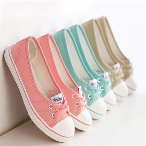 Slip On Heels Korea 806 light canvas shoes shoes slip on korean tide students set foot pedal flat shoes in