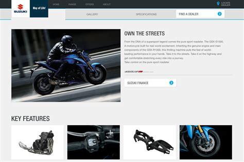 suzuki motorcycles australia launches  website