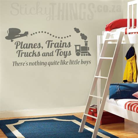 boys wall art sticker boys decals on stickythings co za