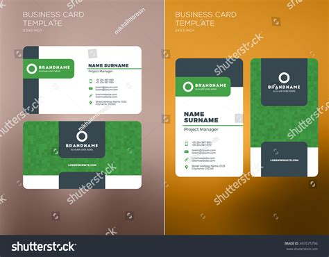 free sports themed business card templates corporate business card print template personal stock