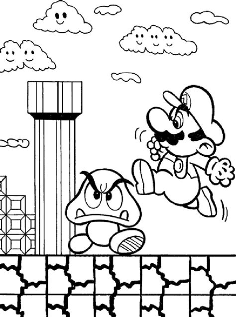 super mario colouring pages coloring page